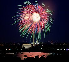 Washington D.C., Fourth of July Fireworks by Carol M.  Highsmith