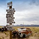 Route 66 in Arizona Desert by Carol M.  Highsmith