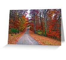 *MY FAVORITE COUNTRY ROAD* Greeting Card