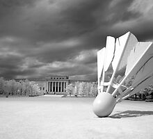 Nelson Atkins Museum Exterior, Infrared View, Kansas City, Missouri  by Carol M.  Highsmith