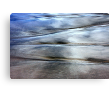 Sea and Sand Forms Metal Print