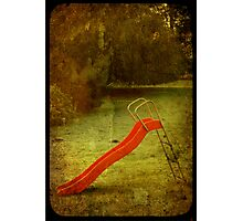 lonely slide Photographic Print