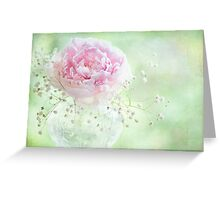 Soft on Peonies Greeting Card