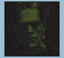 ascii frankenstein on black by noahlicious
