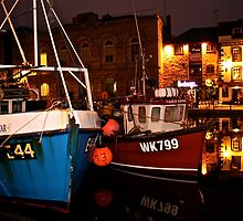 Plymouth Barbican at midnight by Tenee Attoh
