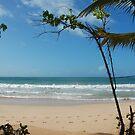 empty beach by steveault