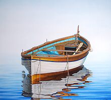 Solitary Boat on the Sea by horacio10