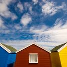Suffolk Beach Huts by Stephen Knowles