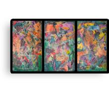 Triptych Tinges Canvas Print