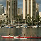 Hawaii: Outrigger Practice by Kezzarama