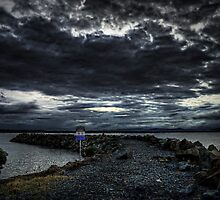 Darkness - Crowdy bay Breakwall by Rodney Trenchard