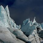 Ice spikes lit by midnight sun by LichenRockArts