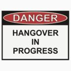 Danger - Hangover In Progress by Ron Marton