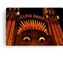 LUNAcy - luna park at night Canvas Print
