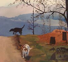 Dog Walking by Charles Kohnen