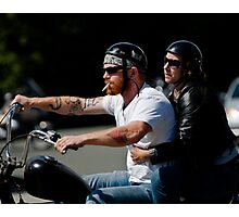 Biker Couple Photographic Print