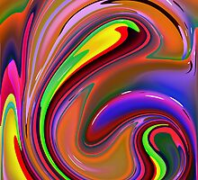 Fluid  Colours 2 by Robert Burns