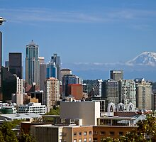 The Space Needle, Downtown Seattle by Barb White
