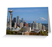 The Space Needle, Downtown Seattle Greeting Card