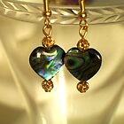 Paua Shell Earrings by Erica Long