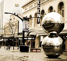 Silver Balls in Rundle Mall, Adelaide, South Australia by tarsia