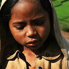 Hoodie Wearing Child, Shy Malagasy Girl, Madagascar by Jane McDougall