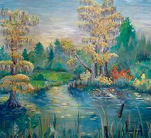 Cypress Lake- www.rebeccarobinsonart.com by robinson1128