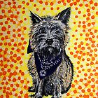 'Bandido' - Portrait of a Cairn Terrier by Alan Hogan