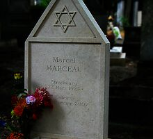 Marcel Marceau's Grave, Paris by Keith Richardson