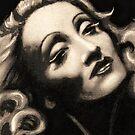 """""""Marlene Dietrich"""" by Martin Kirkwood"""