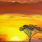 African sunset by Monika Howarth
