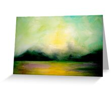 Landscape..Softly as in a Morning Sunrise Greeting Card