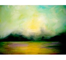 Landscape..Softly as in a Morning Sunrise Photographic Print
