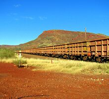 Iron Ore Train - Mt. Nameless Tom Price by Caroline Scott