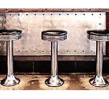 Diner Stools Photographic Print