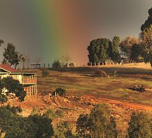 Rainbow on the Hill, Bridgetown, Western Australia by Elaine Teague