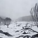 Snowy landscape by Pirostitch