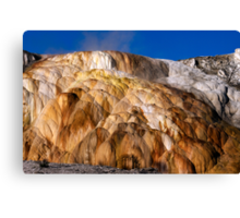 Mound Terrace at Mammoth Hot Springs Canvas Print