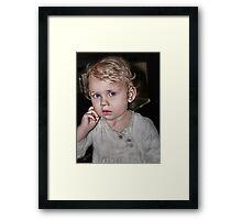 Baby Thinker Framed Print