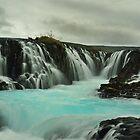 Waterfall Brúarfoss by Árni  Tryggvason