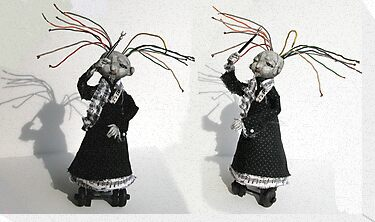 Electrifying Conductor - art doll sculpture, goth by LindaAppleArt