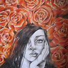 AMONG RED ROSES by GittiArt