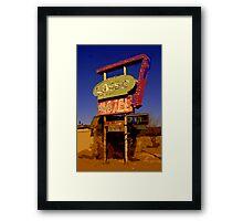 Lasso Motel -- Route 66 Framed Print