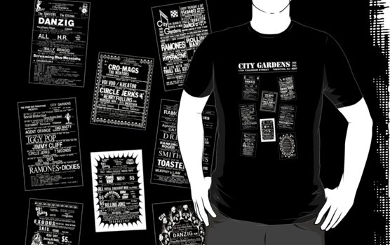 City Gardens - Punk Card Tee Shirt (v. 3.1) by Fitcharoo
