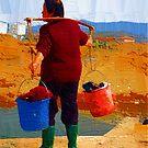 laundry woman by marcwellman2000
