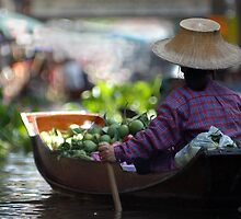 Floating Markets Thailand by Julie Waller