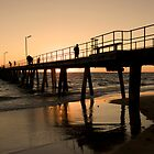 Port Noarlunga Jetty Glow by Darryl Leach