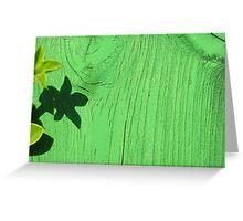 Green Shadow Greeting Card