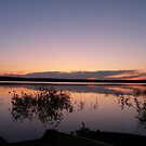 Awesome Sunset on Pinkney Lake, Sask, by MaeBelle