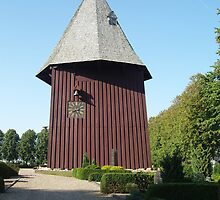 Bell Tower of Broager Church, Denmark by Tove